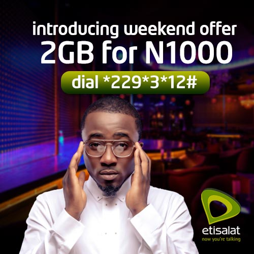 Etisalat introducing 5GB for #2000 and 2GB for #1000 -DONWAPZ.COM
