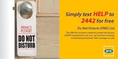 Do Not Disturb on MTN