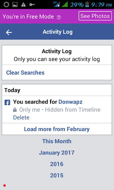 How to delete Facebook search history on Facebook Lite-donwapz.com