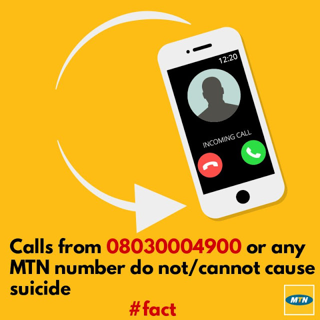 MTN reacts to suicide number claims,