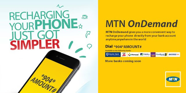 recharge MTN line from your bank account
