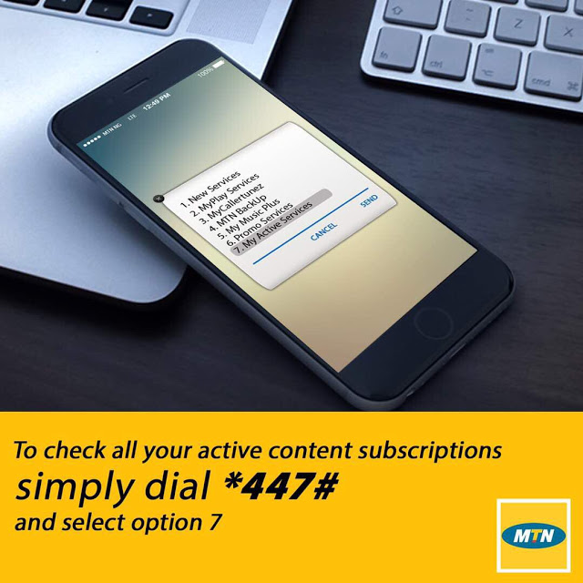 How to check your subscribed MTN services