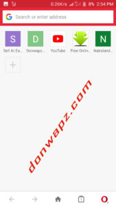 opera mini start page